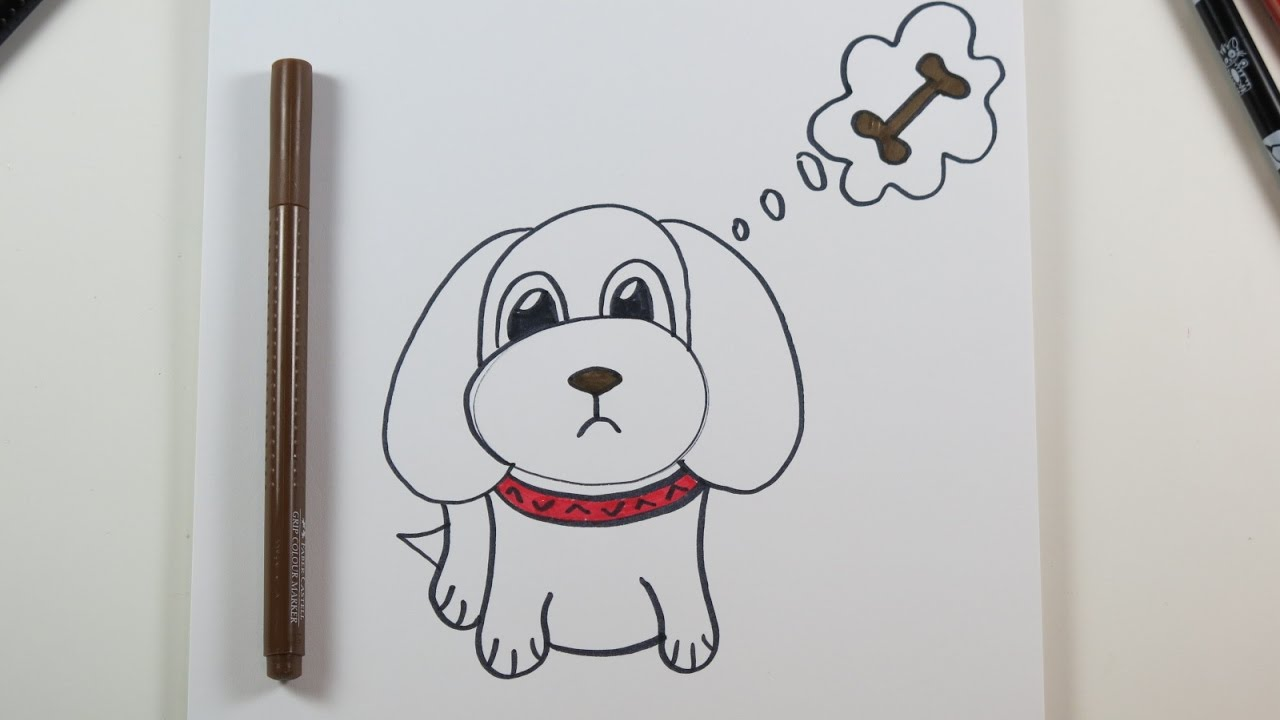 diy drawing a cute puppy cute drawings for kids kids wow channel