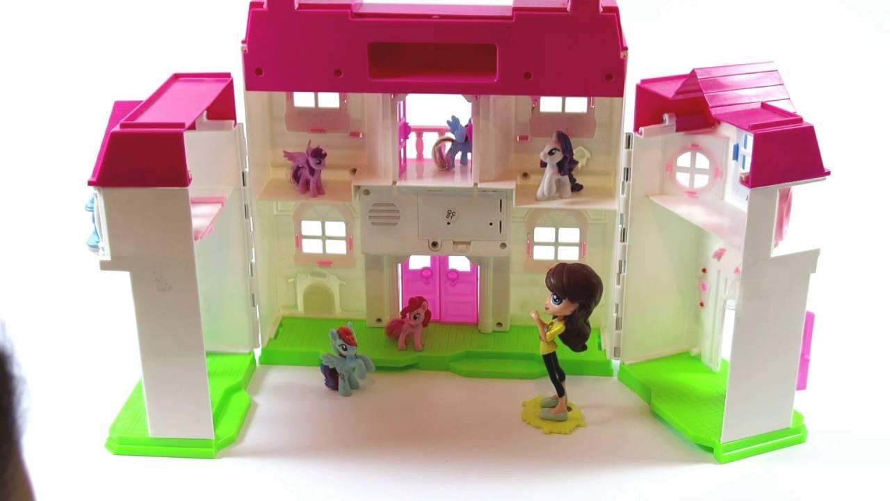 My Little Pony Play House Rainbow Dash Pinkie Pie By Kids Wow