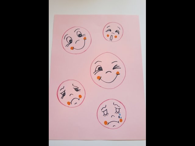 Diy Learn How To Draw Simple Cute Faces Easy Drawings For Kids
